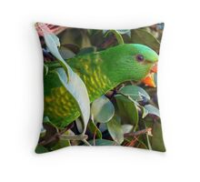Scaly Breasted Lorikeets Throw Pillow