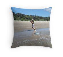 Beach, fishing Throw Pillow