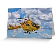 MD 902 Explorer G-LNCT air ambulance Greeting Card