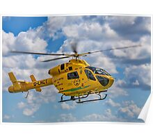 MD 902 Explorer G-LNCT air ambulance Poster