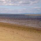 Right-hand panel of Findhorn Bay triptych by Tez Watson