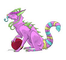 Dragon the Monster Cat Photographic Print