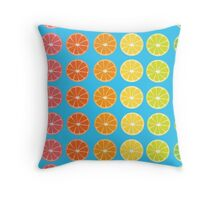 Citrus Rainbow  Throw Pillow
