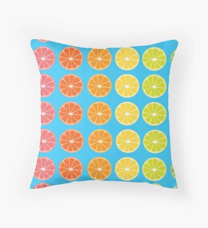 Citrus Rainbow  Throw Pillow