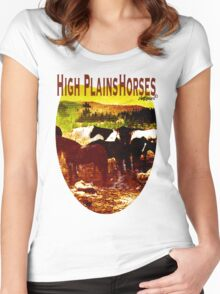 High Plains Horses T Women's Fitted Scoop T-Shirt