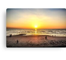 Stunning Sunset Blackpool Canvas Print