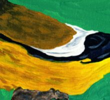 An Evening Grosbeak Sticker