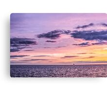 Stunning Sunset Blackpool Purple Canvas Print
