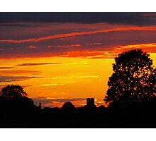 LAST NIGHTS SUNSET Photographic Print