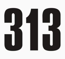 313 Detroit | Phone Area Code Shirts by FreshThreadShop