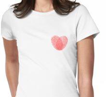 Fingerprint heart Womens Fitted T-Shirt