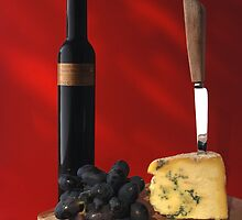 stilton and wine by jon  daly