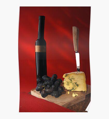 stilton and wine Poster