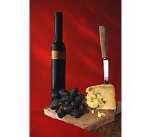 stilton and wine Photographic Print