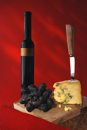 stilton and wine by jon  daly