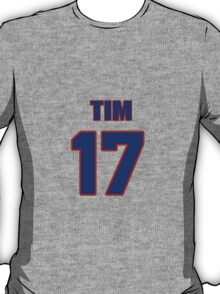 National football player Tim Dwight jersey 17 T-Shirt