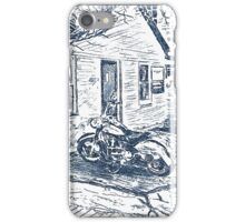 Motorbike behind old Bridgwater Hospital. iPhone Case/Skin