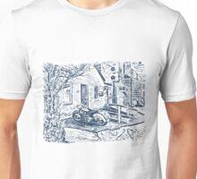 Motorbike behind old Bridgwater Hospital. Unisex T-Shirt