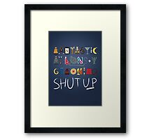 Words to Save the World By Framed Print