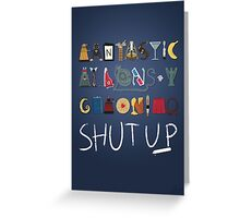 Words to Save the World By Greeting Card