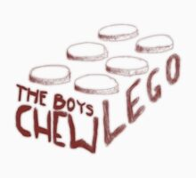 The Boys Chew Lego (red) by indiekid