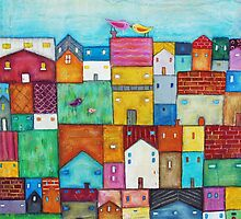 Town and Birds by sunnyklee