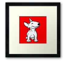 English Bull Terrier Pup White Framed Print