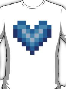 Blue Heart Design Art T-Shirt
