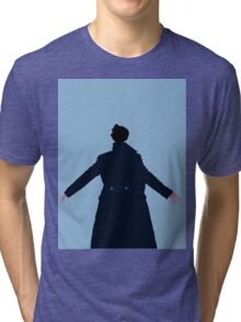 Sherlock The Reichenbach Fall Tri-blend T-Shirt