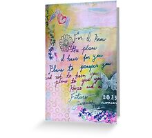 Plans to Prosper You  Greeting Card