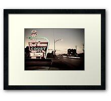 Rest Haven Court Motel. Missouri. (Alan Copson © 2007) Framed Print