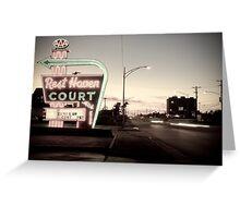 Rest Haven Court Motel. Missouri. (Alan Copson © 2007) Greeting Card