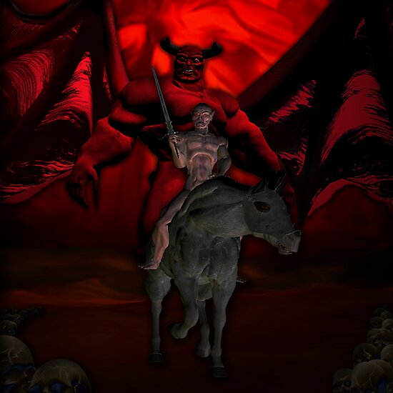 BEHOLD A PALE HORSE AND THE MAN WHO SAT ON HIM WAS DEATH AND HELL FOLLOWED WITH HIM by Michael Beers