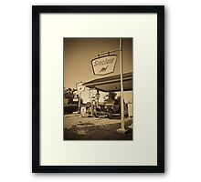 Gay Parita Gas Station (Alan Copson © 2007) Framed Print