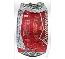 Budweiser - crushed tin Poster