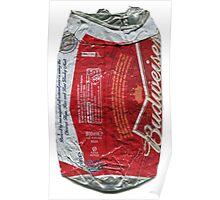 Budweiser - crushed tin Poster