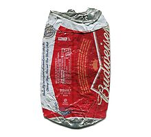 Budweiser - crushed tin by Jovan Djordjevic