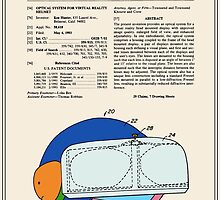 Virtual Reality Helmet Patent - Colour by FinlayMcNevin