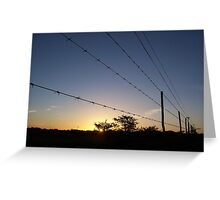 Fenced Country Greeting Card