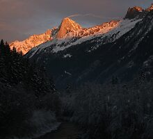 French Alps sunset by Andy North
