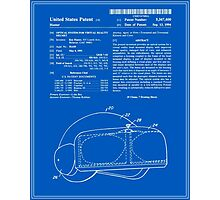 Virtual Reality Helmet Patent - Blueprint Photographic Print