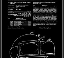Virtual Reality Helmet Patent - Black by FinlayMcNevin