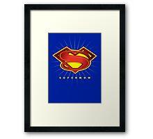 SUPERMOM Framed Print