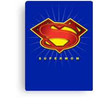 SUPERMOM Canvas Print