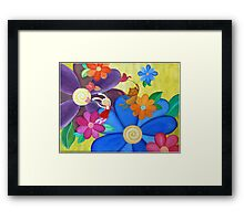 Child and a Cat in an Adventure  Framed Print