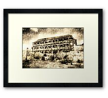 The Dickens Inn Pub London Vintage Framed Print