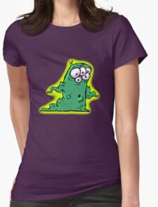 Wormy Womens Fitted T-Shirt