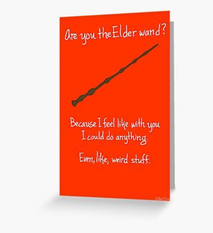 The Elder Wand Greeting Card
