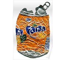 Fanta Orange - Crushed Tin Poster