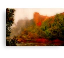"""""""Morning Mist at the Mill"""" Canvas Print"""